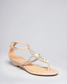 Badgley Mischka Exotic Wedge Sandals - Coye | Bloomingdale's