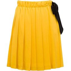 Miu Miu SKIRT (1 212 350 LBP) ❤ liked on Polyvore featuring skirts, long yellow skirt, long skirts, miu miu, yellow skirt and miu miu skirt