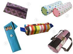 5 Popular Pencil Case Tutorials. Maybe I can make a long thin one to keep bendy straws in my diaper bag.