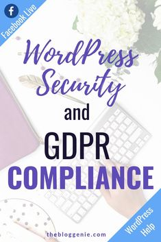 Is your blog GDPR compliant? If you're not sure, you need to watch this video, where I talk you through how to make your WordPress site secure and legal! #WordPressTips #WordPressHelp #blogtips Learn Wordpress, Wordpress Plugins, Web Design Tips, Graphic Design Tips, Gdpr Compliance, Blogging For Beginners, Blogging Ideas, Website Maintenance, Wordpress Website Design