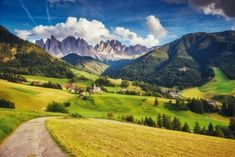 Set in northern Italy, the Dolomites were declared a UNESCO World Heritage Site . St Magdalena, Puzzle Of The Day, South Tyrol, Northern Italy, Pilgrimage, World Heritage Sites, Touring, Adventure Travel, Countryside