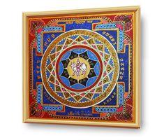 #SANAN_GOPAL YANTRA #ENERGETISCHE_Kunst von #Art_Heil_Studio #Dr_Mariia_Bohach (#MariRich) #kunst #malerei #regenbogen #jubilaum #muttertag #mandala #yantra #geschenk #geburtstag #meditation #art_therapie Decorative Plates, Meditation, Mandala, Tapestry, Etsy, Vintage, Studio, Home Decor, Art Therapy