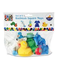 Another great find on #zulily! World of Eric Carle Bathtub Squirt Toys Set by The World of Eric Carle #zulilyfinds