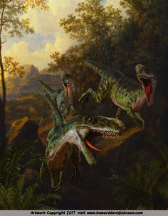 Dinosaur Art; Fantastic Realism by Howard David Johnson