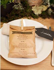 Paper Wedding: 20 Unique Wedding Menu Ideas