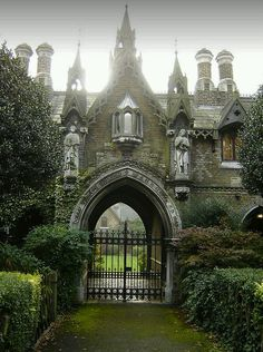 Gothic English gatehouse. What lies beyond and why is it barred?--- sooo beautiful!!