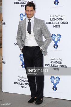 David Gandy attends the One For The Boys Charity Ball during the London Collections: Men SS15 on June 15, 2014 in London, England.