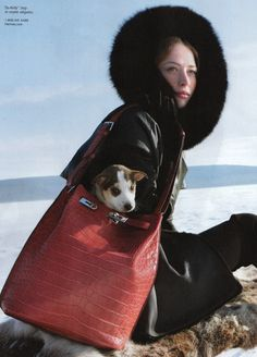 Raquel Zimmermann stars in the latest Hermes Ad Campaign shot by Eric Valli at the famous Sweden's Ice Hotel