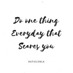 Do one thing everyday that scares you- #travelblogger #blogginggals #quoteoftheday ✈️ Today I did something that not only scared me it terrified me to tears (photos to come) but you know what, I bloody well did it and didn't quit. I feel like I've accomplished something big today. My fears! ✈️ What have you done today that has scared you? Have you faced any fears? ❤️ #Regram via @katielewla