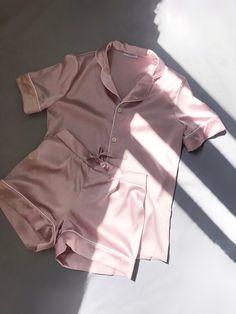 cc1bd4f097 Silk pajama set shorts Silk pajamas pink Silk pyjamas Silk set Silk pajama  set Silk short pajama set Pajama for women Valentines day gift