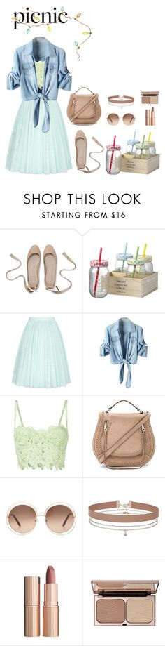 """""""Sun is Shining!"""" by annelaurousen ❤ liked on Polyvore featuring Parlane, Ted Baker, Ermanno Ermanno Scervino, Rebecca Minkoff, Chloé, Miss Selfridge, Charlotte Tilbury and picnic"""