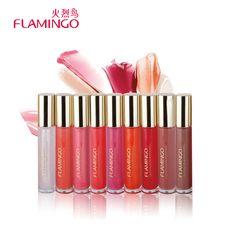 Free Shipping Lip gloss Flamingo Makeup 6 Colors Waterproof Liquid Moisturizer Long Lasting Crystal-clear Resplendent Lip gloss