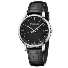 Ανδρικό quartz ελβετικό ρολόι CALVIN KLEIN K9H211C1 Established με μαύρο καντράν, ημερομηνία και μαύρο δερμάτινο λουρί | Ρολόγια CK ΤΣΑΛΔΑΡΗΣ στο Χαλάνδρι #Calvin #Klein #Established #μαύρο