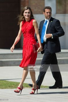 Queen Letizia of Spain inaugurates the annual meeting with director of Cervantes Institutes at Museo Ruso San Petersburgo on July 24, 2017 in Malaga, Spain.  (Photo by Daniel Perez/Getty Images)