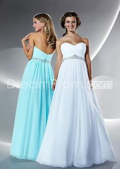 Cheap Sexy A-Line Sweetheart Floor-Length Empire Waistline Prom Dresses