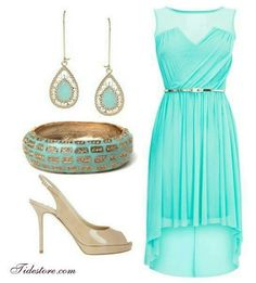 Tiffany blue dress... Cute for bridesmaids in the spring/summer time!