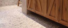 Pebbleshop flat riverstone pebble mozaïek vloeren