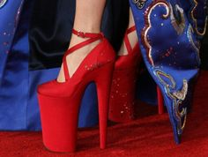 Lady Gaga's heels at the grammys