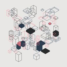 Geometric Shapes / 170117 processing Hype framework hexels generative art creative coding code artists on tumblr pattern isometric graphic art http://ift.tt/2j6p9ax