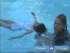 How to Teach Kids to Swim : Teaching a Child the Back Float in Swimming - YouTube