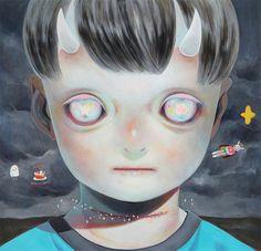 Painting by Hikari Shimoda