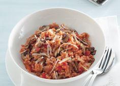 Recept voor risotto met champignons en kaas