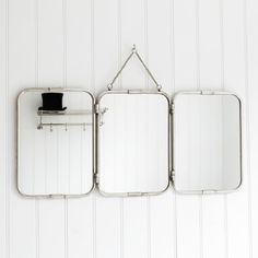 Tri-Fold Wall Hung Mirror
