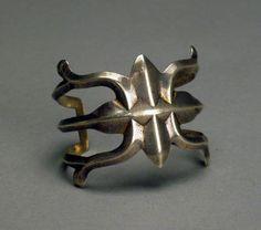 Navajo Sandcast Bracelet, c. 1945 (via Steve Elmore Indian Art)