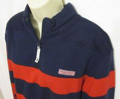 Vineyard Vines Mens Shep Shirt Red Blue Stripe Alumni New Sweatshirt Pullover  #VineyardVines #SweatshirtCrew