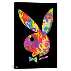 iCanvasART iCanvas Playboy Gallery Wrapped Canvas Art Print by x Small Canvas Paintings, Small Canvas Art, Mini Canvas Art, Easy Canvas Painting, Cute Paintings, Easy Canvas Art, Canvas Draw, Paintings Tumblr, Back Painting