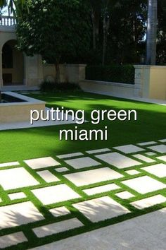 putting green grass miami#385 Astro Turf Garden, Hydraulic Cars, Green Grass, Miami, Outdoor Decor