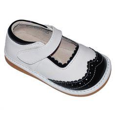 Retro White Mary Jane - Hide n Squeak Footwear - Events