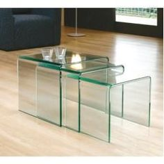 Shop Brassex Nesting Table Set at Lowe's Canada. Find our selection of nesting tables at the lowest price guaranteed with price match. Glass End Tables, Glass Table, Furniture Direct, Modern Furniture, Glass Furniture, Diy Furniture, Side Table With Storage, Round Side Table, Side Tables