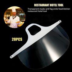20 pcs/lot Transparent Masks Anti Fog Smile Food Beauty Masks Plastic Kitchen Restaurant Hotel Tool Accessories