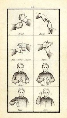 The International Rasmus Malling-Hansen Society: Lectures by Malling-Hansen    Old picture of Danish Sign Language