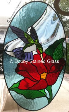 Stained Glass Panel - Hummingbird