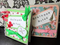 Mini notebooks - personalised for classroom assistants:)XM