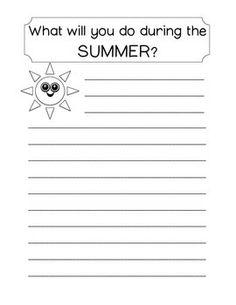 SUMMER COLORING AND WRITING WORKSHEETS - TeachersPayTeachers.com