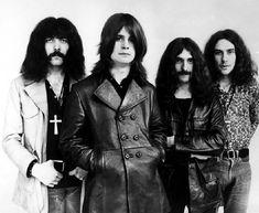 L to R: Tony Iommi, Ozzy Osbourne, Geezer Butler & Bill Ward. Bill Ward, Ozzy Osbourne, Tony Iommi, Chuck Schuldiner, Black Sabbath Concert, Geezer Butler, James Dio, Extreme Metal, Punk