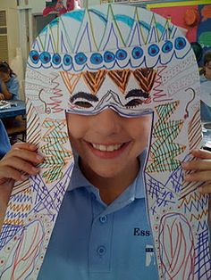 egyptian masks..LOVE this...if only I taught 6th grade