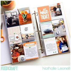 FYC CT gal @anounceofcreativity has these awesome pages up on her blog! Seriously striking pages from Nathalie that really, really makes me feel I need to be doing 6x12 and using more orange! #feedyourcraft #miniflairisawesome #projectlife #scrapbooking #creative #memorykeeping #aliedwards