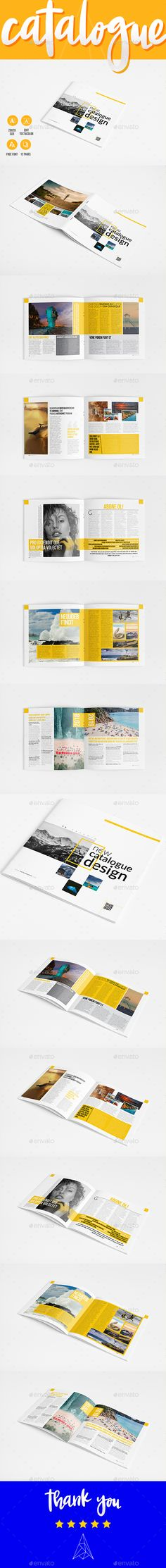 New #Catalogue #Template 12 Pages - Catalogs #Brochures