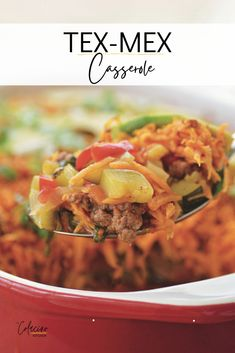 Tex-Mex Casserole starts with budget-friendly ground beef and is loaded with a mixture of vegetables like spinach, bell peppers, carrots, and zucchini. Shredded, seasoned sweet potatoes top this off, making one of the healthiest casseroles you'll find on the internet!
