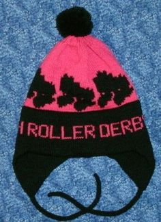 Personalized Roller Derby Hat by bethsknits on Etsy, $24.00