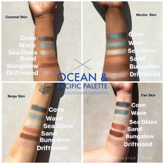 Beautycounter's Chief Artistic Officer and Celebrity Makeup Artist Christy Coleman created our Limited Edition Ocean & Pacific Palette to work perfectly with all skin tones. As you can see absolutely beautiful on everyone!
