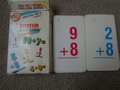 """Creative Child Games """"Addition"""" Flash Cards Addition Flashcards, Relic Hunter, Math Numbers, Preschool Toys, Creative Kids, Games For Kids, Bullet Journal, Children, Games For Children"""