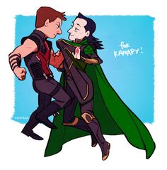 hawkeye/loki for kanapy!! thank you for this excuse to draw them heh heh #avengers