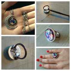 My diy universe ring!  I bought this necklace and now it is a special ring.. ;)