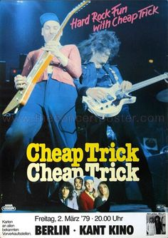Cheap Trick Concert Poster (Germany) https://www.facebook.com/FromTheWaybackMachine