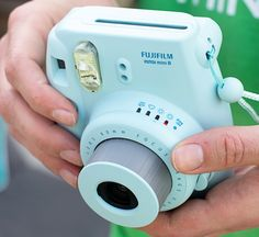 The true blue Instax Mini 8 is the newest addition to Fuji's instant camera line. The Instax 8 has manual exposure controls with a built in light meter to help you choose the best mode. $85